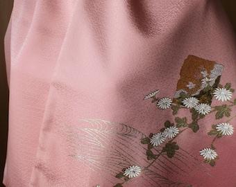 Elegant  Flower Silk with emboidery scarf shawl