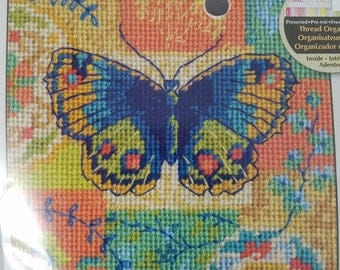 Small Needlepoint Kit--Butterfly and Flowers