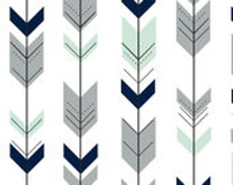 Pastel Arrow (Navy/Mint/Gray) Changing Pad Cover