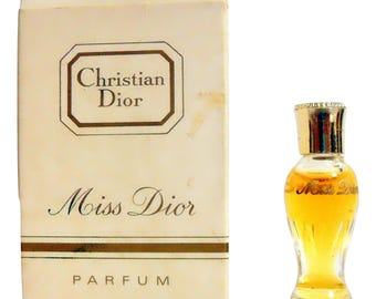 Vintage 1960s Miss Dior by Christian Dior 1/28 oz Parfum Amphora Miniature Mini PERFUME