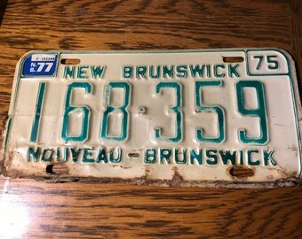 1975 New Brunswick License Plate