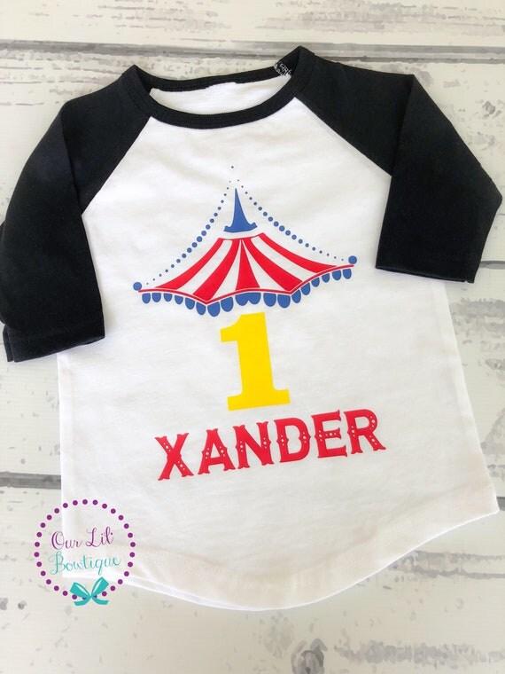 Circus Birthday Shirt Personalized