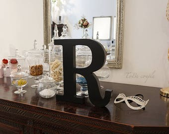 "12"" Wooden letter, shelf decoration, freestanding home decoration"