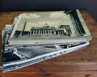 Rome, Vintage Photo Postcards x 31, Black and White, Sepia, 1930s, 40s, 50s, 60s - Assorted Vintage Postcards, Rome
