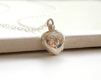 Sterling Silver Locket Necklace. Memory Necklace, Picture Necklace,Locket Jewelry