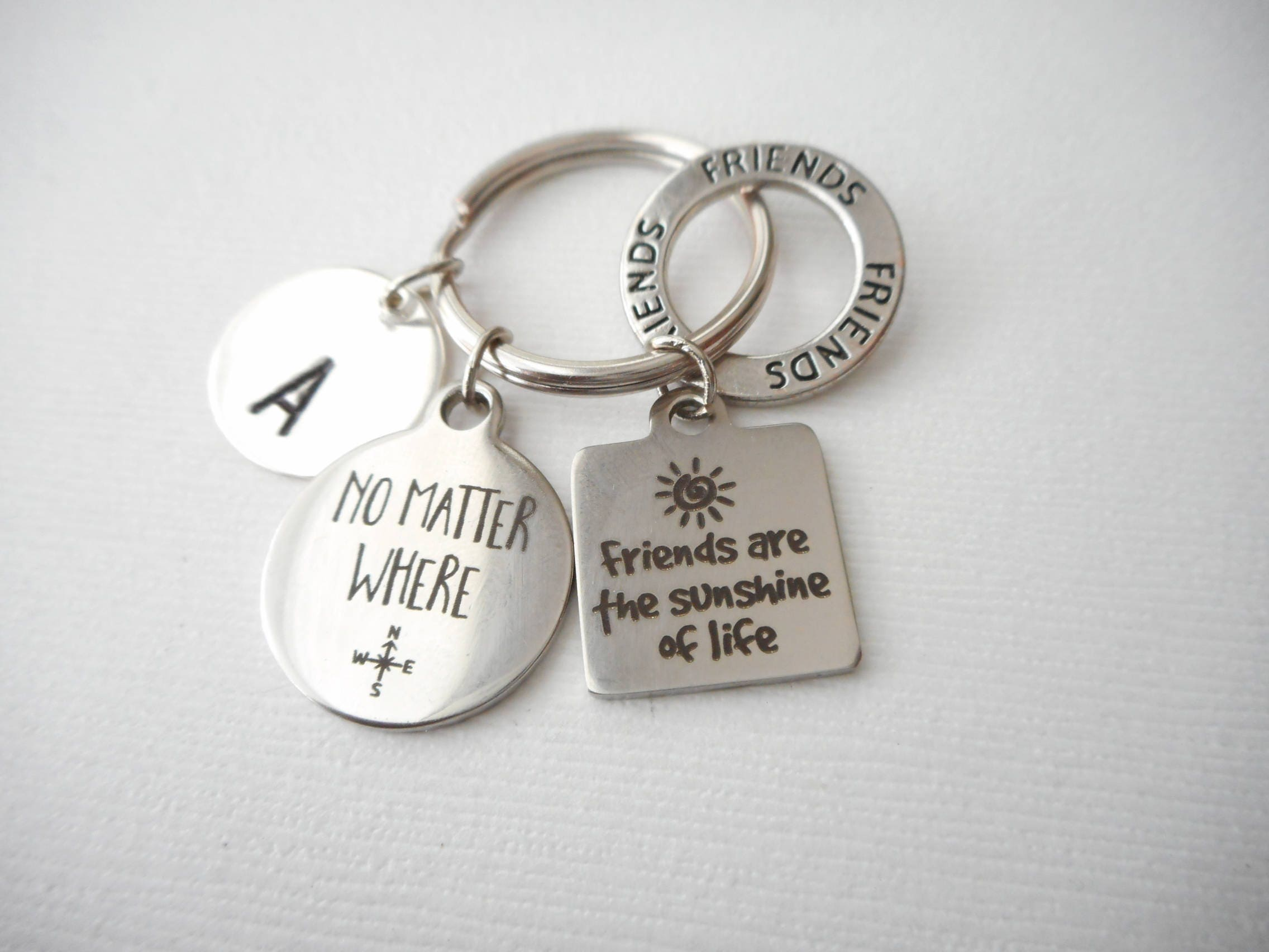 Gift For Friends Key Ring Personalized Goodbye Idea Bridesmaid