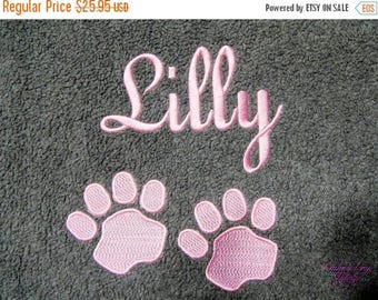ON SALE Personalized Dog Blanket Custom Dog Blanket Puppy Blanket Dog Gifts Custom Pet Supplies