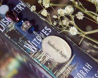 A Discovery Of Witches Bookmark Book Jewelry Shadow Of Night All Souls Trilogy Book Earrings Book Jewelry Book Club Gifts Bookish Gifts