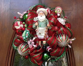 Small Chef Santa Kitchen Wreath