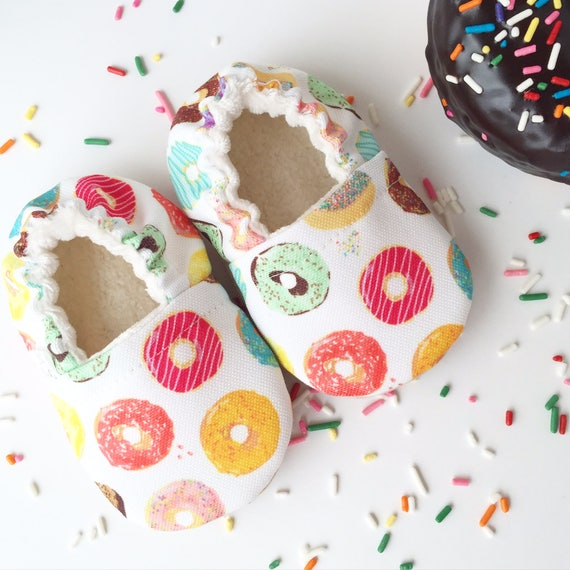 Donuts Soft Sole Baby Shoes