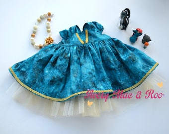 Little Lady's Ever After Scottish  Princess tunic newborn-10