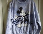 Vintage 80s DISNEYLAND Distressed Acidwash Sweatshirt sz L/XL