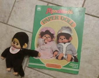Monchhichi Paper Doll Booklet and Monchhichi Doll