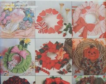 Holiday Wreath Pattern 1980s McCall's Crafts Pattern 2084 Uncut Pattern
