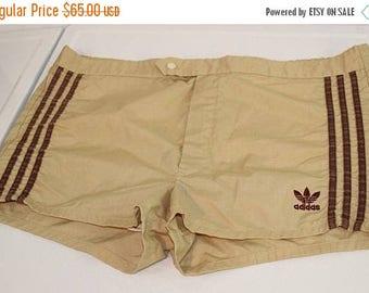 On Sale 50% OFF Vintage Adidas Men's Swim Suit Swim Trunks Khaki Tan SZ L