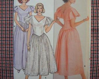 vintage 1980s Butterick sewing pattern 3684 Kathryn Conover Misses dress size 10