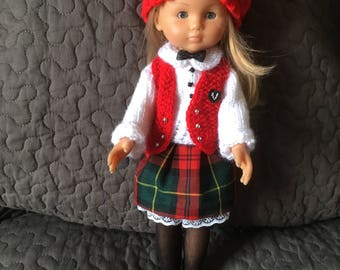 33 cm the sweethearts doll and similar schoolgirl dress