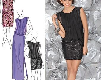 UNCUT Misses' Dress Sewing Pattern Simplicity 1658 Bridesmaid Dress, Wedding Dress, Prom, Formal Dress, Evening Dress Size 6-8-10-12-14
