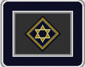 Needlepoint Kit or Canvas: Tallit Concentric