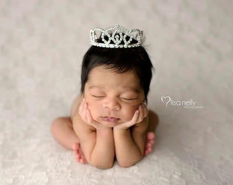 princess crown, newborn Crown - Photo Prop | Tiara, newborn, crystal crown.  Bianca