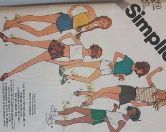 Uncut Vintage Women's Shorts Sewing Pattern
