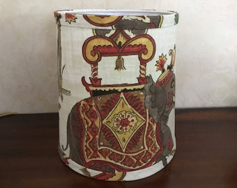 Drum lampshade asian themed clip lampshade