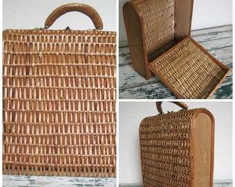 Summer Clearout Vintage Wicker Basket Bag//1970's//