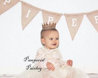 Birthday sale Lace Princess Crown, Baby Crown, Gold Crown, Child's Crown, Mini Crown, girl crown, Lace Crown, Silver Crown, Baby Headband, C