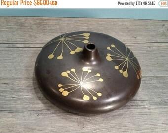 SALE - Mid Century Black & Gold Vase