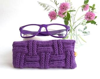 Purple Glasses Case. Eyeglasses Case. Sunglasses Case. Eyeglasses Holder. Sunglasses Holder. Reading Glasses Case.