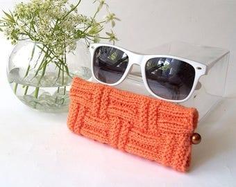Orange Glasses Case. Eyeglasses Case. Eyeglasses Holder. Sunglasses Case. Sun Glasses Holder. Spectacles Case. Specs Holder.
