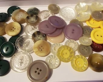 58 Colorful Plastic Buttons-Item# 583