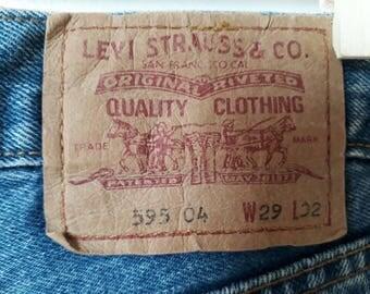 Vintage levis 585 denim