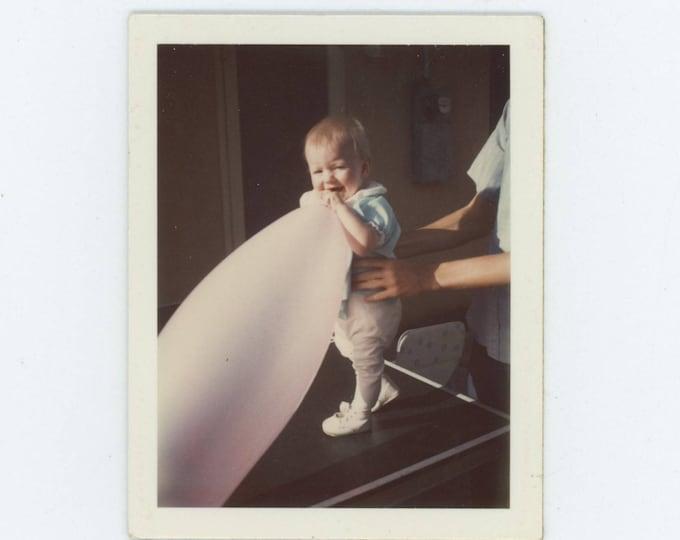 Vintage Polaroid Photo Snapshot: Big Balloon, c1970s (76587)