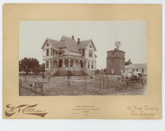 Portrait of a Home by W.N. Collom Studio, San Francisco, Early 1900s Photo (710615 O/S)