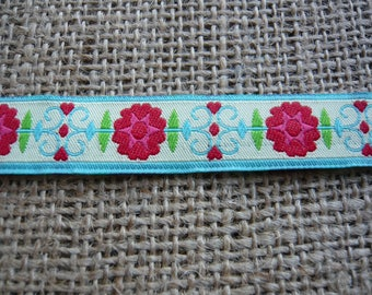 Dog Collar and Leash by Floral Pooch - 077 Art Nouveau Flowers