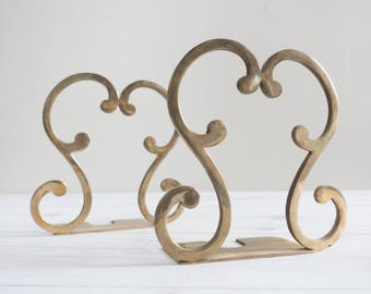 Vintage Brass Bookends Book Ends
