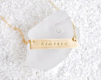 Gold Namaste Necklace