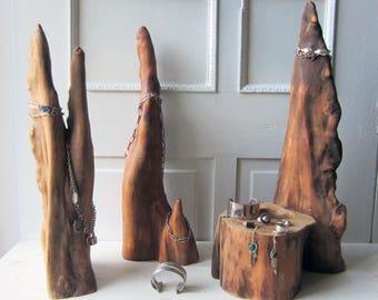 ONE Natural Wood Jewelry Display - Necklace Display - Bracelet Display - Vintage Cypress Wood Specimen - Found Wood - Natural Display