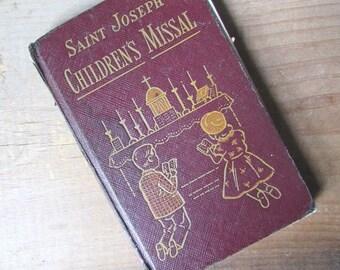 Vintage Saint Joseph's Children's Missal Catholic Missal 1954