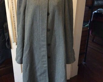 Hermès grey wool walking coat - L - XXL