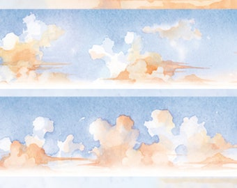 1 Roll of Limited Edition Washi Tape - Sunset Sky