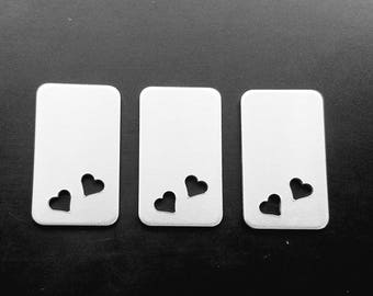 Sale on Aluminum Blank with a 1/4 inch heart cutout 14g Aluminum Stamping Blanks Hand Stamping Jewelry Supplies Necklace