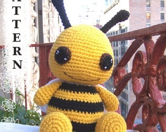 Instant Download Crochet Pattern-Cuddly Bumble Bee-Amigurumi Bumble Bee-DIY Crochet Toy-Stuffed Toy Insects-Plush Bee-Stuffed Bumble Bee