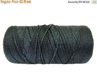 ON SALE Macrame Cord, 15 meters/16 yards Friendship Bracelet String, Braided Bracelet Cord - Dark Grey