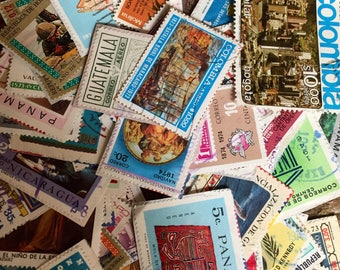 105 Vintage Stamps from Latin America