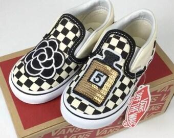 Custom Vans Checker Camellia No.5 shoes  shoes