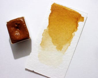 Raw Sienna - Handmade Watercolor Paint
