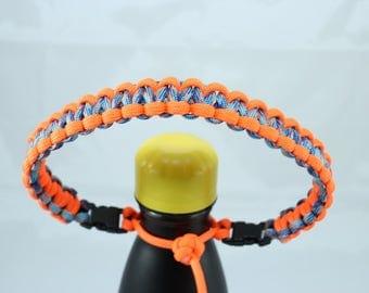 Neon Orange & Nebula Color Paracord Handle