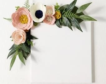 Felt Flower Wall Swag || Wall Arrangement || Felt Flowers || Floral Swag || Floral Decor || Nursery Decor || Rifle Paper Co Inspired